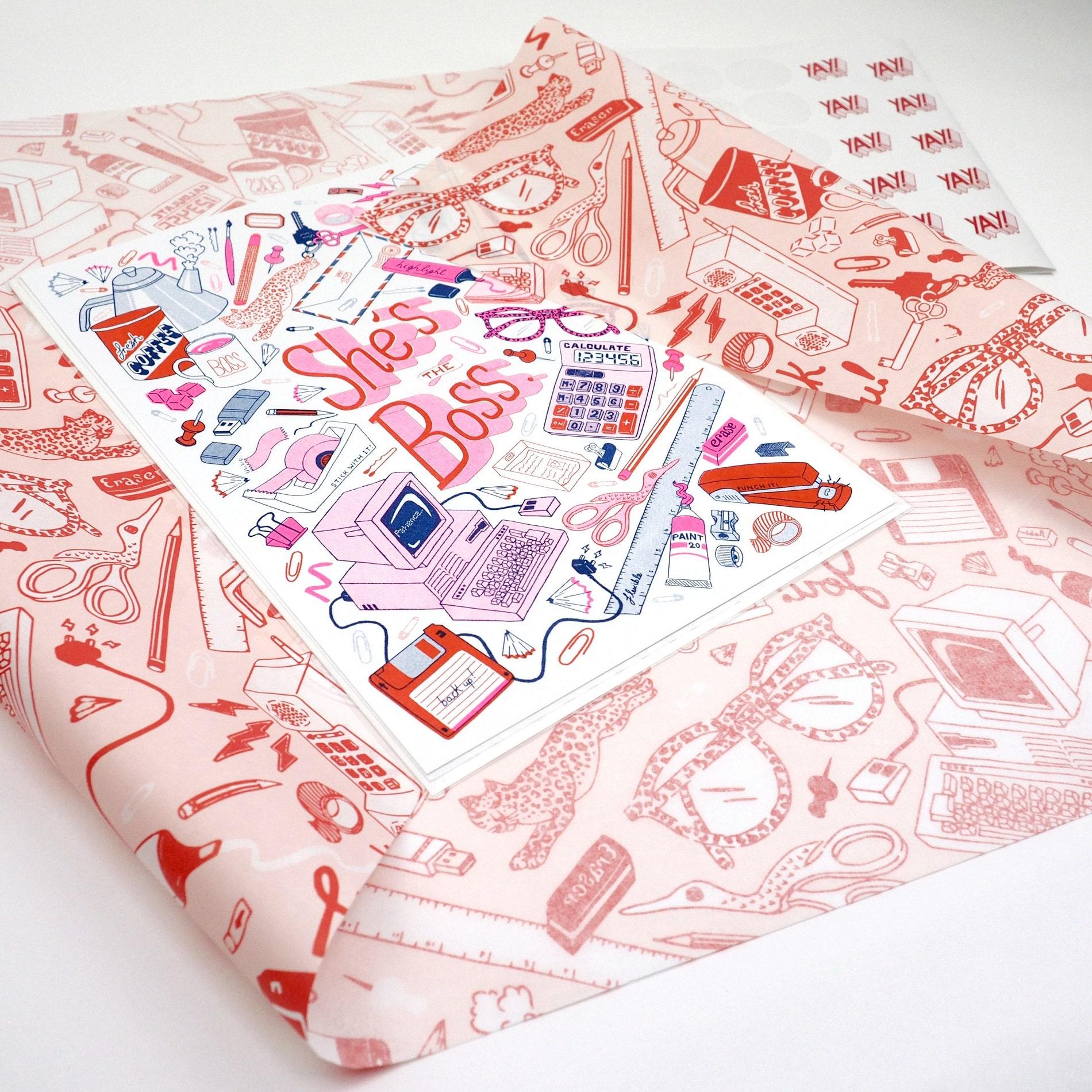 Close-up on custom tissue paper
