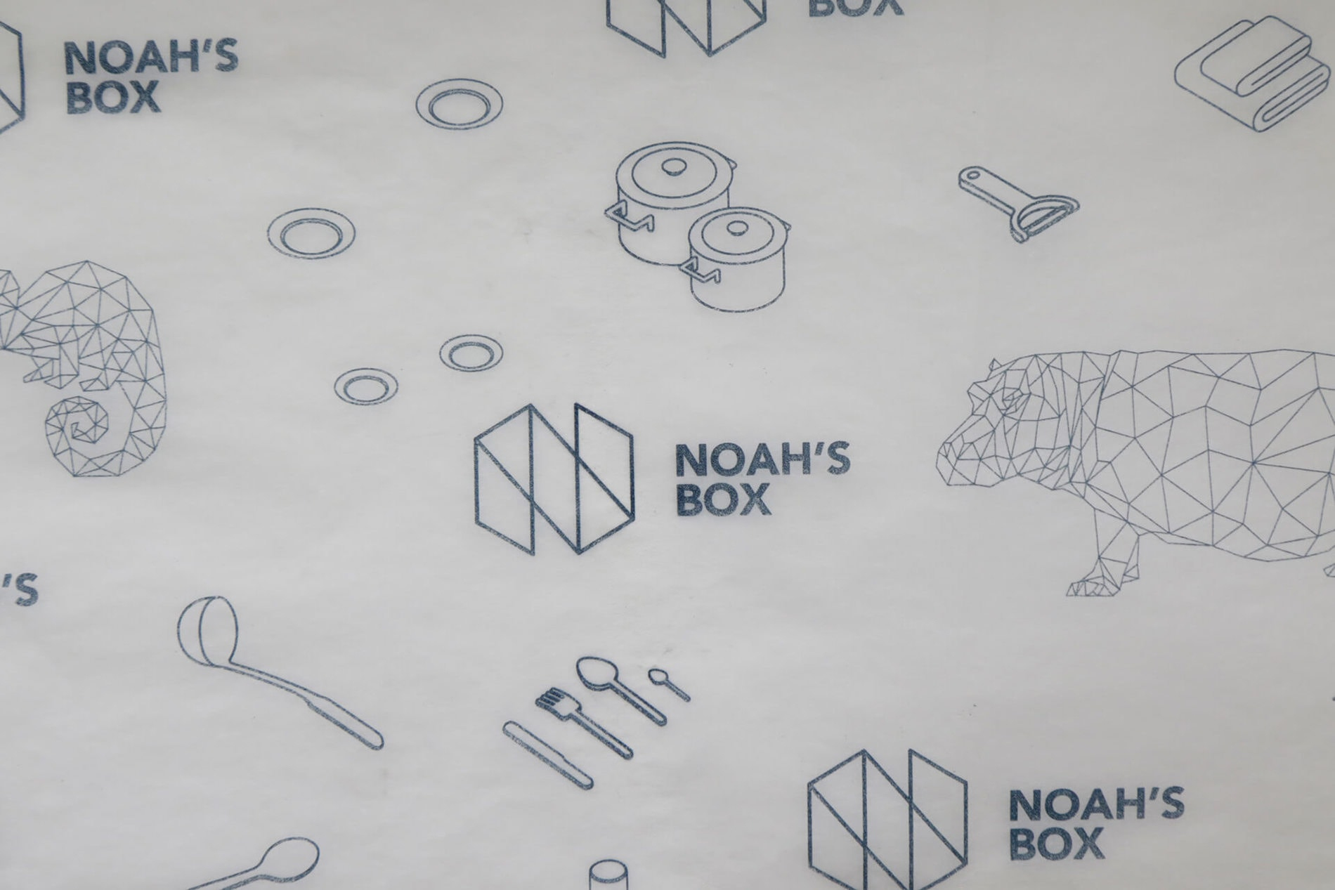 Noah's Box custom tissue paper