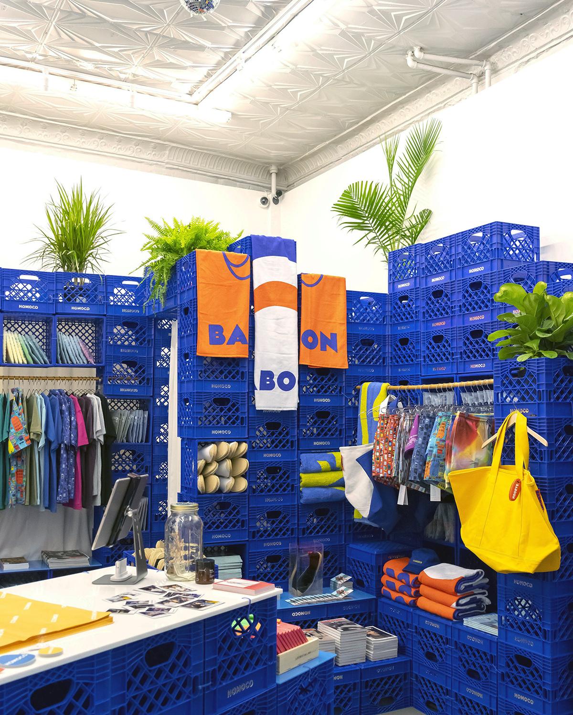 HOMOCO pop-up store interior