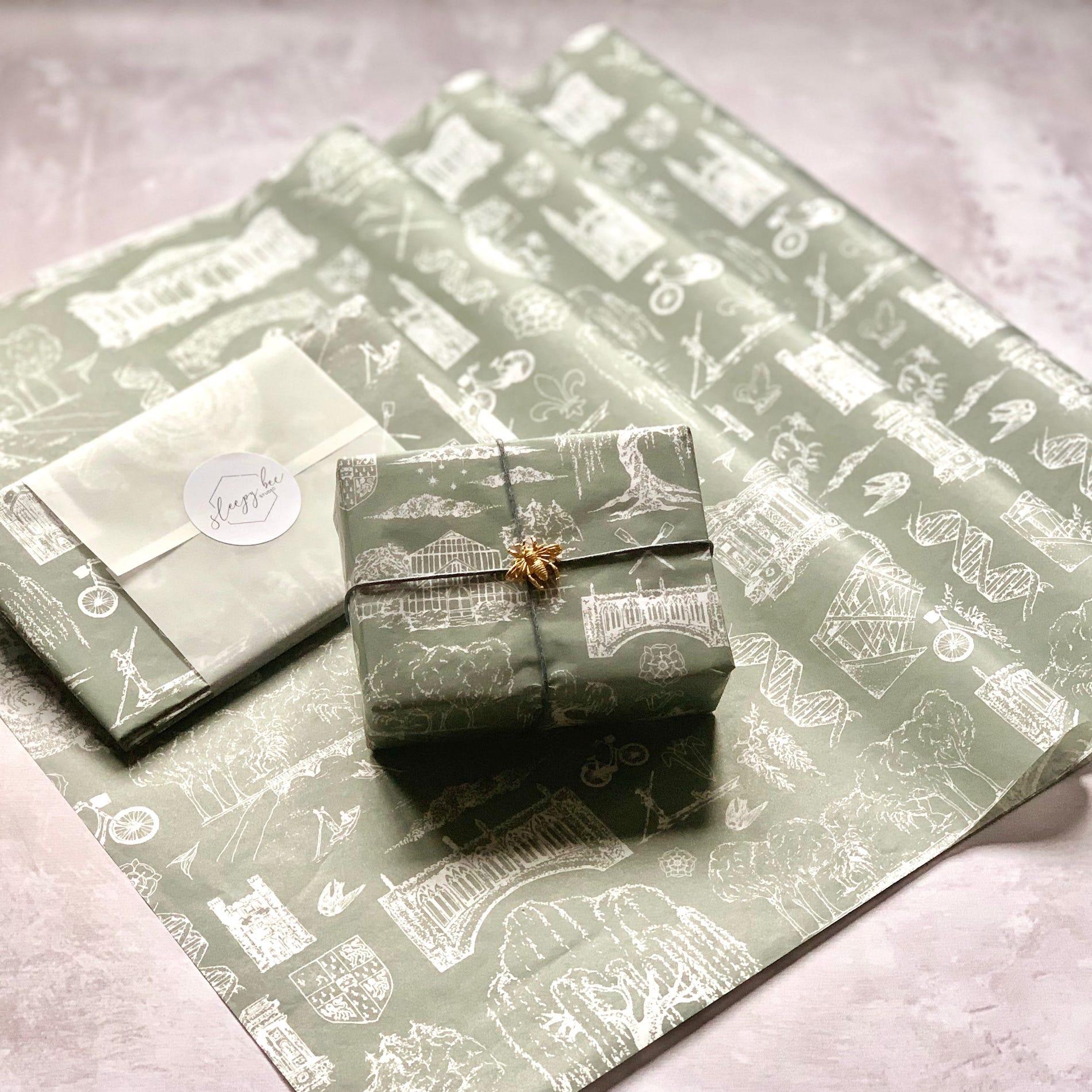 Sleepy Bee Studio Cambridge custom tissue paper design
