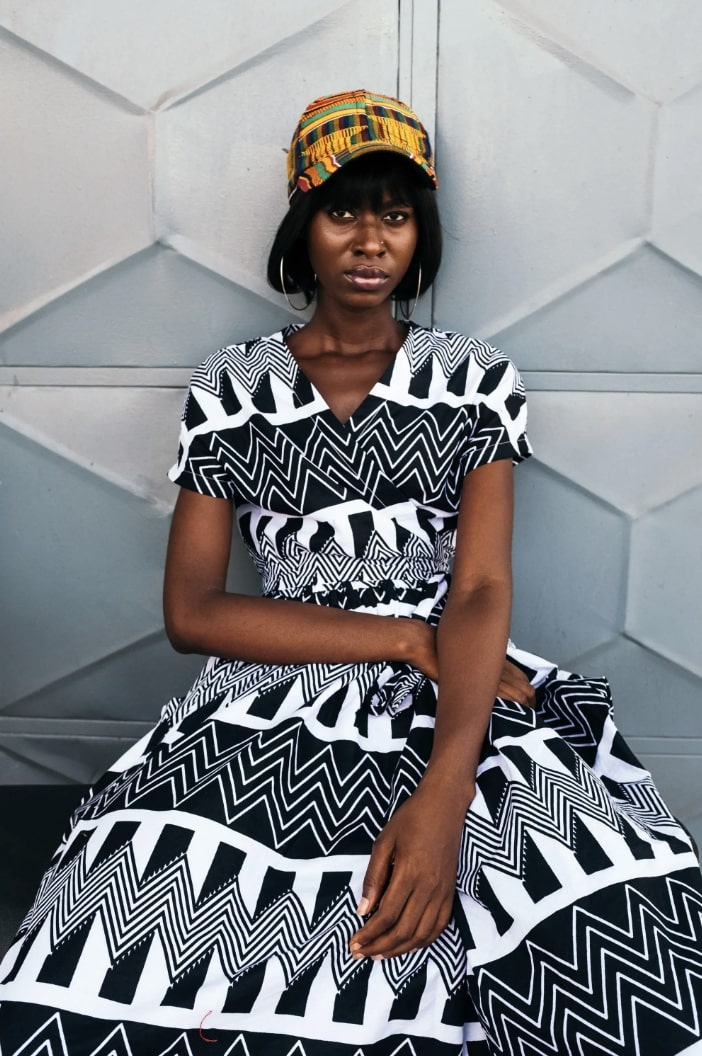 YEVU clothing garments on model