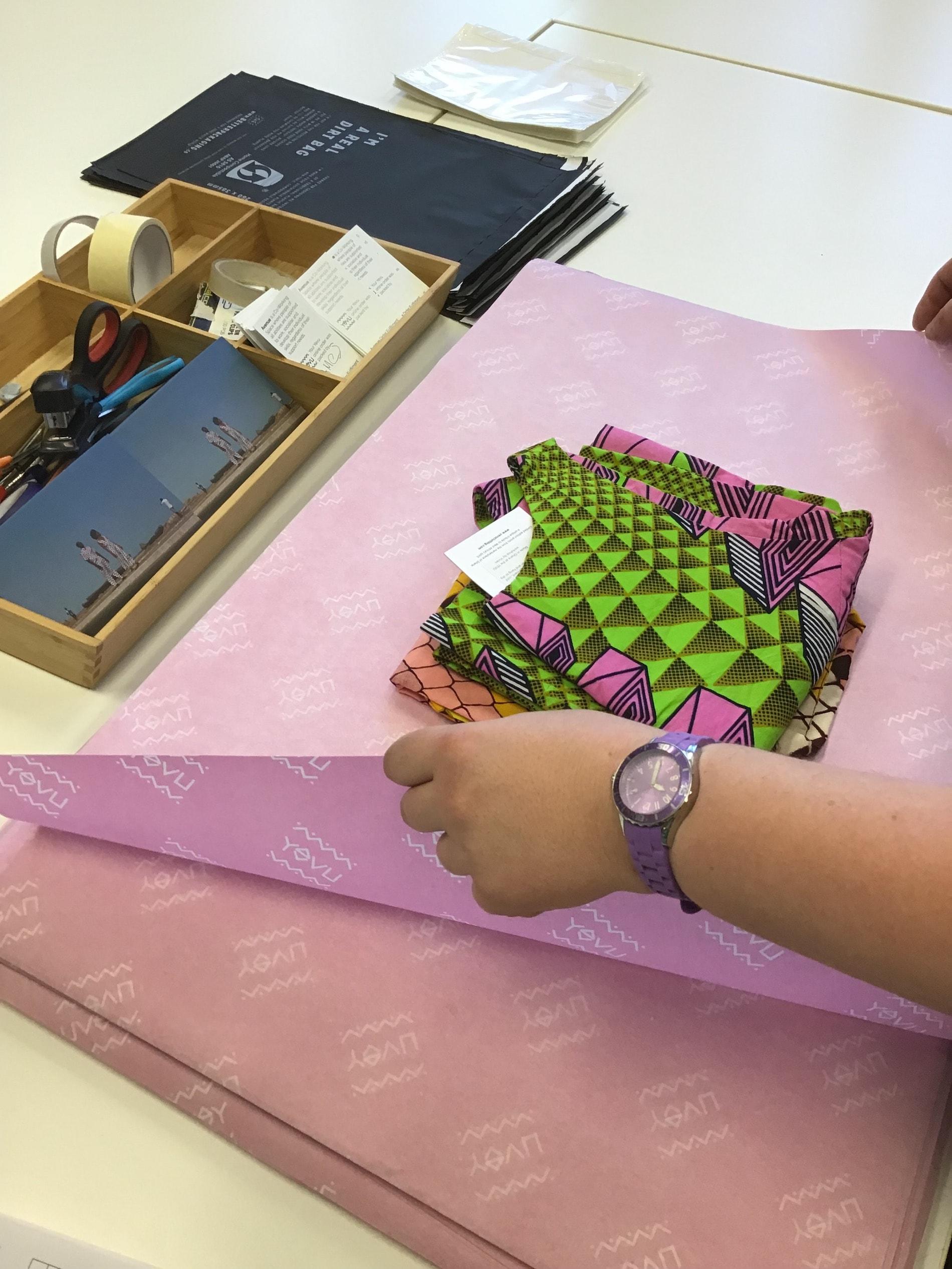 YEVU clothing custom tissue paper